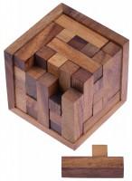 schach w rfel 125er cube xl 3d puzzle denkspiel knobelspiel geduldspiel im holzrahmen. Black Bedroom Furniture Sets. Home Design Ideas