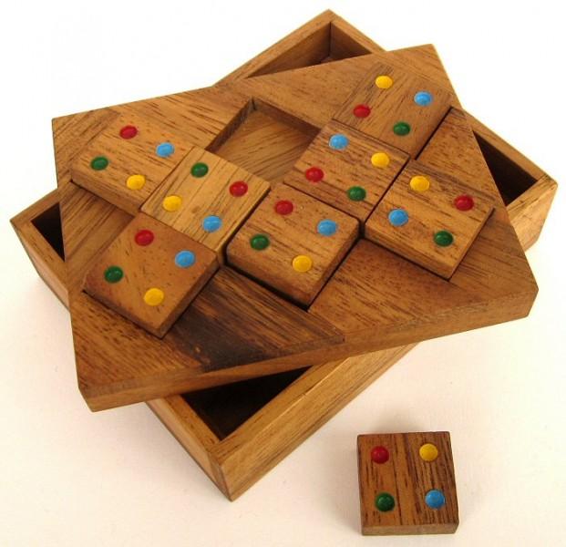 farbenpuzzle domino puzzle legespiel denkspiel knobelspiel geduldspiel aus holz spiele. Black Bedroom Furniture Sets. Home Design Ideas