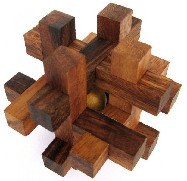 tavor 3d puzzle denkspiel knobelspiel geduldspiel aus holz mit innenleben spiele f r 1. Black Bedroom Furniture Sets. Home Design Ideas