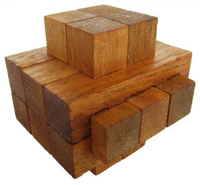 notched 3d puzzle denkspiel knobelspiel geduldspiel aus holz spiele f r 1 spieler. Black Bedroom Furniture Sets. Home Design Ideas