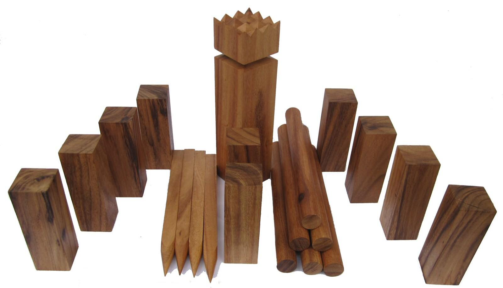 kubb wikingerspiel aus edlem harten samena holz mit tragebeutel gesellschaftsspiele. Black Bedroom Furniture Sets. Home Design Ideas