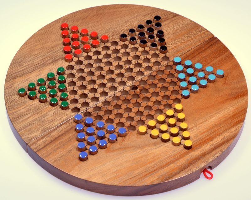 halma gr xl stern halma chinese checkers gesellschaftsspiel aus holz mit rundem. Black Bedroom Furniture Sets. Home Design Ideas