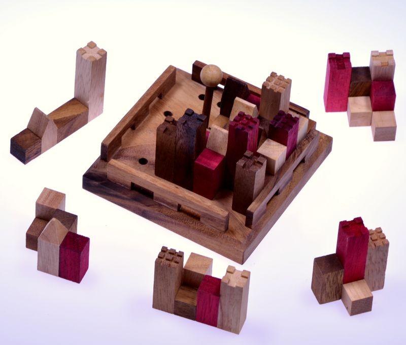 castle burg 3d puzzle denkspiel knobelspiel geduldspiel aus holz mit vielen. Black Bedroom Furniture Sets. Home Design Ideas