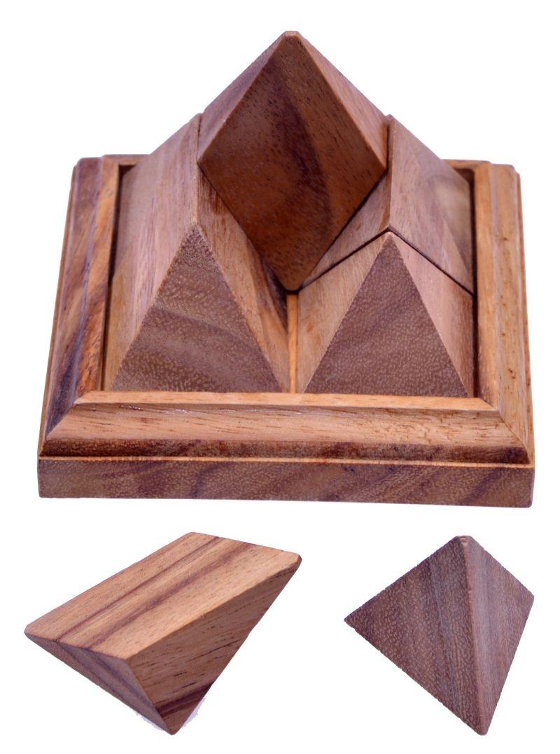 spitze pyramide 3d puzzle denkspiel knobelspiel geduldspiel aus holz spiele f r 1 spieler. Black Bedroom Furniture Sets. Home Design Ideas
