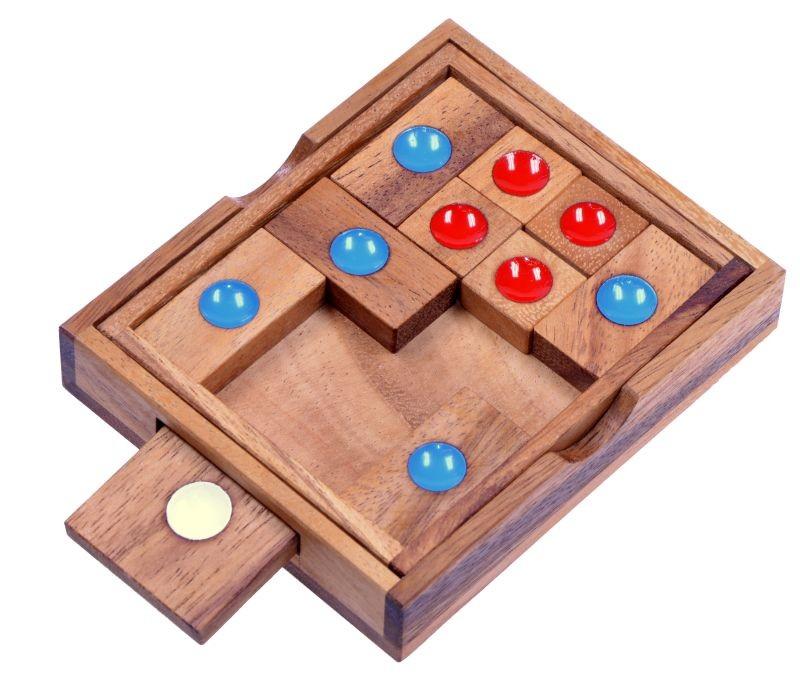 khun phan gr l schiebespiel denkspiel knobelspiel geduldspiel aus holz spiele f r 1 spieler. Black Bedroom Furniture Sets. Home Design Ideas